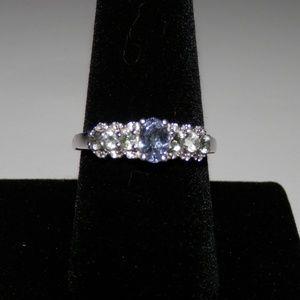 Green Tanzaniite/Green Sapphire Ring sz 9 NWT